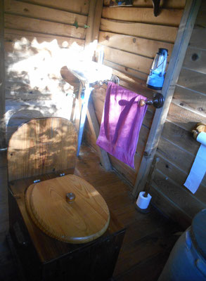 compost toilet at the Viveka yoga centre south france