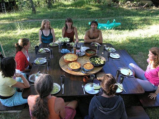 Vegetarisch Küsche im  Yoga und Meditation zentrum Südfrankreich