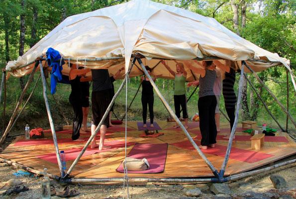 Yoga und Familienferien Südfrankreich