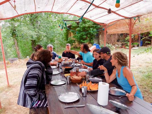 repas végétariens centre de yoga viveka sud France