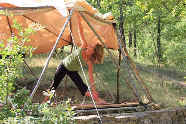 Sophie Geulin yoga lehrerin Yoga und meditation retreat centre Südfrankreich