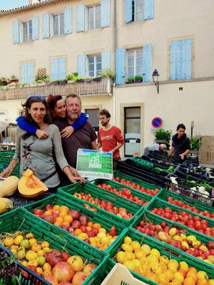 Légumes bio pour le centre de yoga viveka