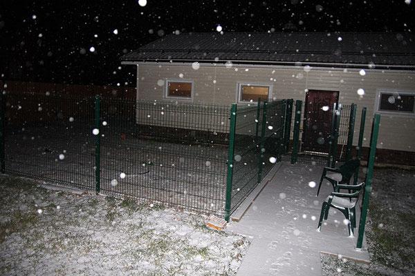 19 октября - Первый снег.