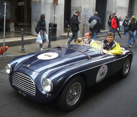 Famous 166 MM @ the 2013 Mille Miglia.