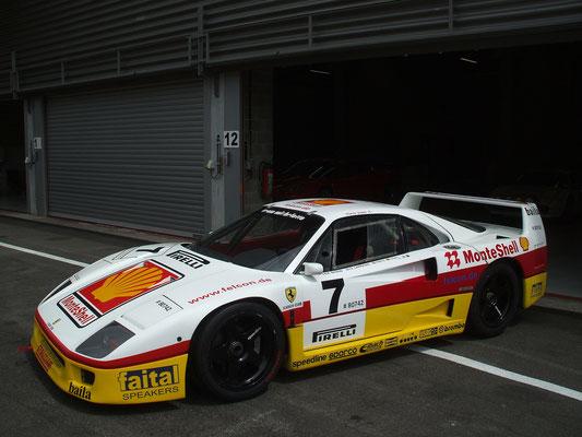 Nostalgic F40 @ 2015 Modena Motorsport Trackdays, Spa.