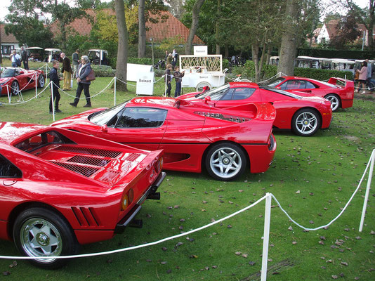 Great line-up @ 2014 Zoute Grand Prix Concours.