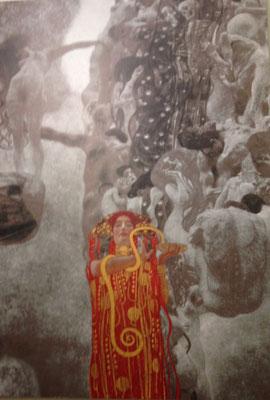 """Reproduction des fresques """"Philosophie"""", """"Jurisprudence"""" et """"Médecine"""" détruites par les nazis."""