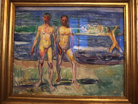 Edvard Munch - Hommes au bord de la mer