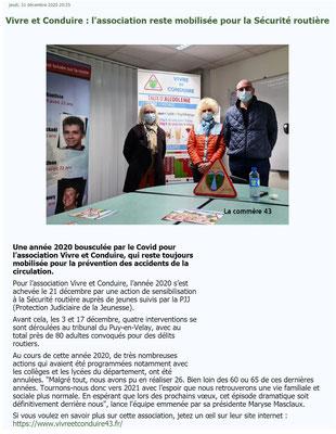 """Article """"La Commère"""" le 31 décembre 2020"""