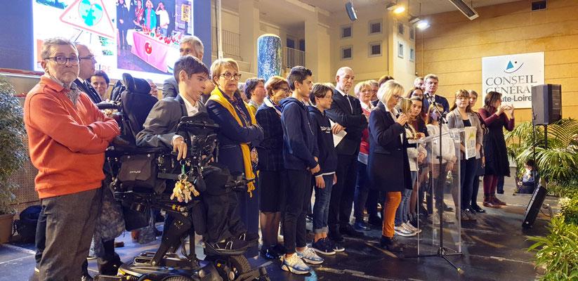 Voeux de la Mairie du Puy en Velay - Mise à l'honneur de Vivre et Conduire - Le 18 janvier 2020