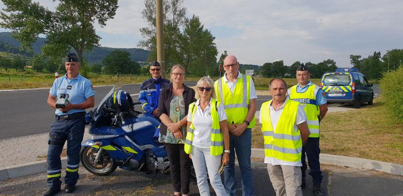 Opération de prévention avec  Mme la Sous Préfète et les Gendarmeries Yssingeaux et Bas en Basset - 6 juillet 2018