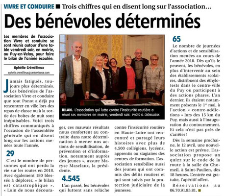 A.G. Article de  l'Eveil du 5  avril 2019