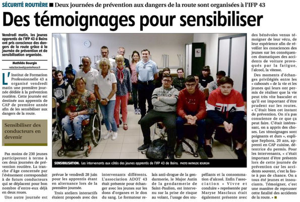 Article L'Eveil - IFP Bains - 21 Juin 2019