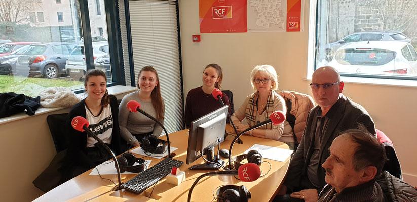 Interview dans les studios de RCF par les jeunes de l'IUT - Le Puy en Velay - le 13 janvier 2020