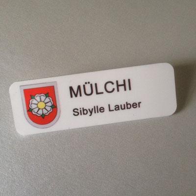 Druckatelier46 - Namensschild Dorf Mülchi