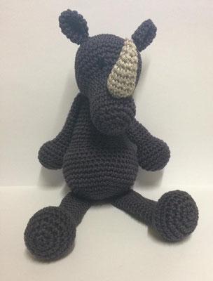 Amigurumi - Häkeltier - Kuscheltier Nashorn Toni