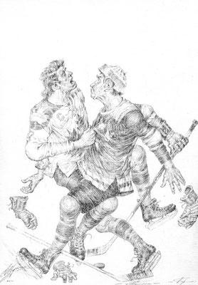 Hahnenkampf (Bleistift  25x35 2007)