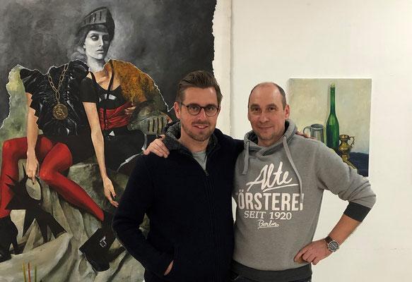 Mit Co-Trainer des 1.FC Union Berlin Sebastian Bönig