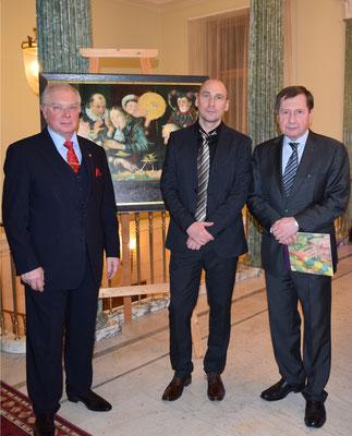 Mit dem russischem Botschafter in Deutschland Wladimir M. Grinin und Leiter des Handels- und Wirtschaftsbüros bei der Russischen Botschaft Jurij Stezenko