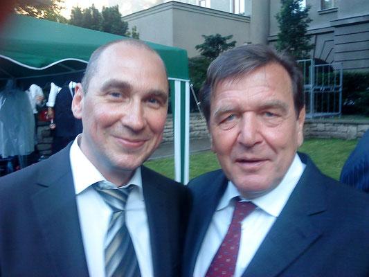 Mit Gerhard Schröder