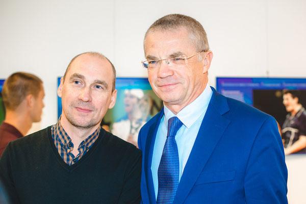 Mit Alexander Medwedew (Präsident und Generaldirektor des Zenit St. Petersburg)  Fotograf Alena Wilhelm, Fotostudio SaveMoment