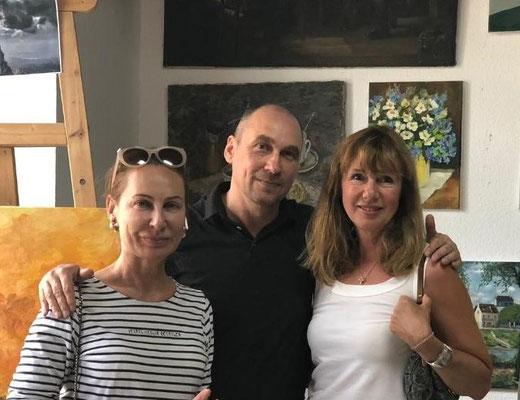 Mit Irina Nikitina und Maria Koteneva