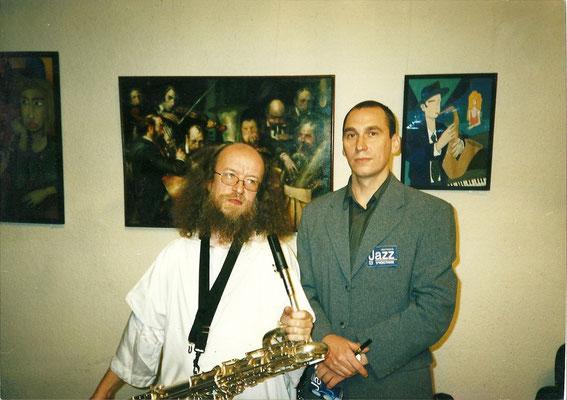 Mit Musiker und Komponist Sergej Letov