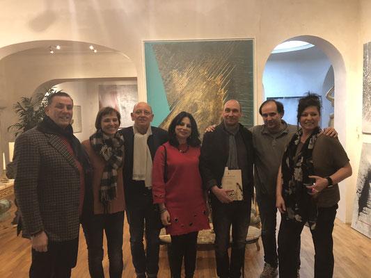 Mit den Künstlern Rafael Ramirez und Kiki Bragard