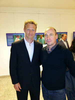 Mit Dmitry Tursunov (russischer Tennisspieler)