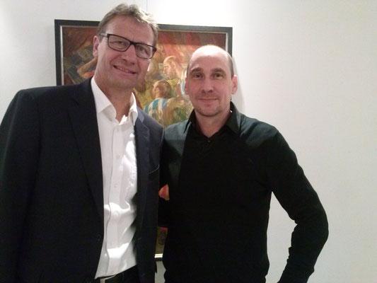 Mit Fußballweltmeister von 1990 Guido Buchwald