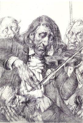 Paganini (Bleistift 20x15 1996)