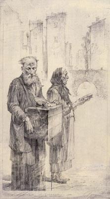 Straßenmusiker (Bleistift 20x30)