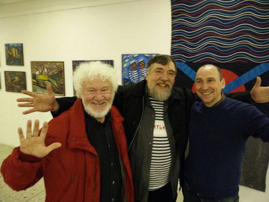 Mit den Künstlern Dimitriy Shagin und Hubert Höft-Baumgardt
