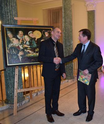 Mit dem russischen Botschafter in Deutschland Wladimir M. Grinin