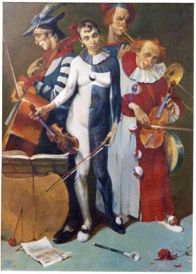 Vor dem Auftritt (Öl auf Leinwand 80x100 1994)