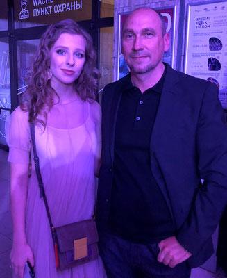 Mit Schauspielerin Liza Arzamasova