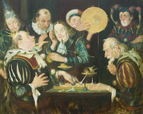Ungleiches Spiel ( Öl auf Leinwand 80x100 2007)