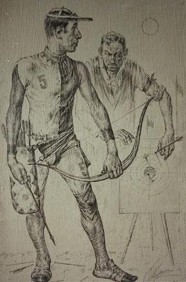 Bogenschütze (Bleistift  25x35 2004)