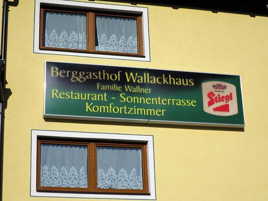 Der Tag beginnt am Berggasthof Wallackhaus