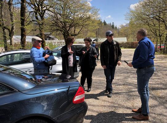 ...Besucherparkplatz vom Schloss Linderhof erreicht...
