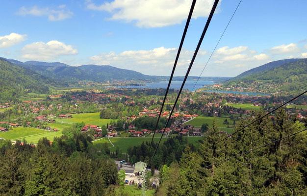 Blick aus der Wallbergbahn.