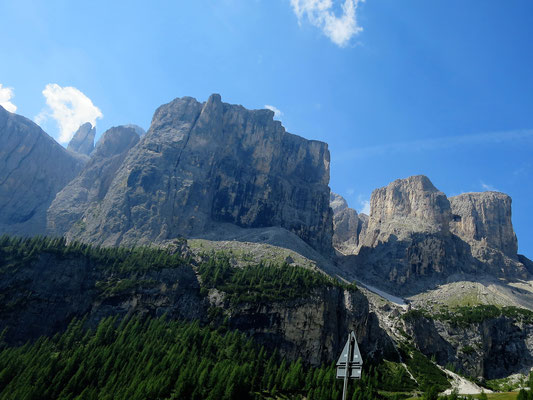 ...und genießen das Bergpanorama des Würzjochs.