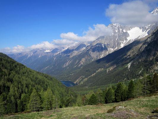 Staller Sattel mit Blick nach Südtirol