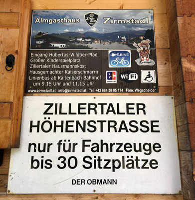 ... Mautstation der Zillertaler Höhenstraße...
