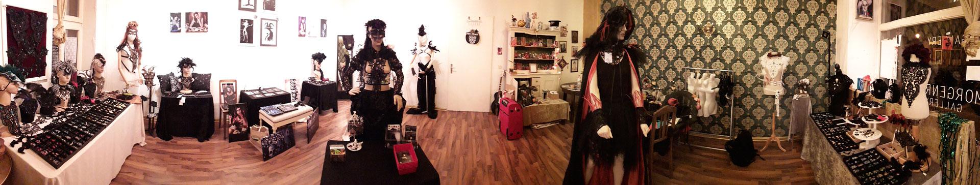 Gesamter Pop-up Store von Bloody Brilliants und Nebula Berlin in der Morgenrot Gallery