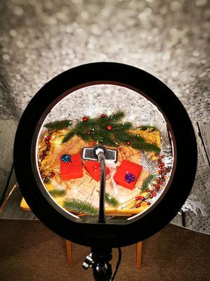 Produktfotografie mit Ringlicht, Weihnachtsset