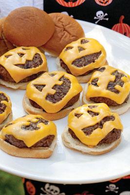 Halloween Burger Pattys