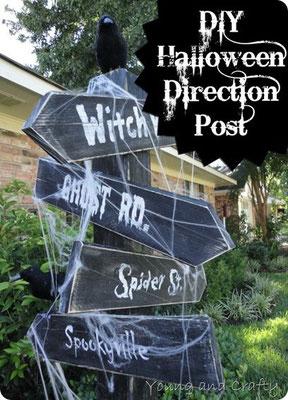 DIY Halloween Direction Post