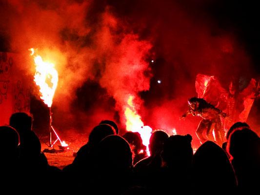 Große Feuershow auf dem MPS fette Heide