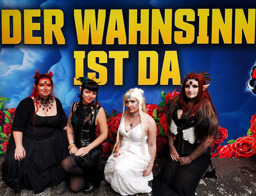 Elfensquad, das Bloody Brilliants Standteam auf der German Comic Con Berlin 2019
